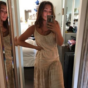 Mij Nude Maxi Dress